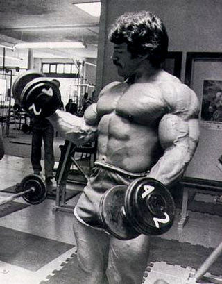 Mike Mentzer Dumbbell Curls