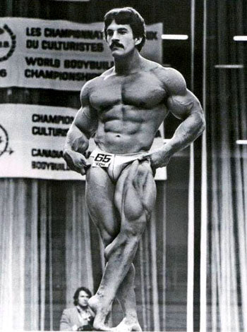 Mike Mentzer at the 1976 Mr Universe Contest