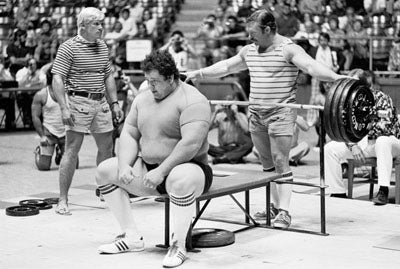 Old School Bench Pressing