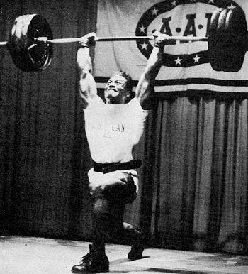 Olympic Weightlifter Sergio Oliva - Clean and Jerk