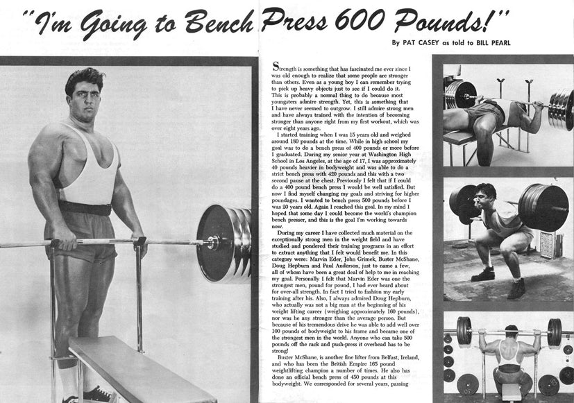 Pat Casey - Im Going to Bench Press 600 Pounds Article 1