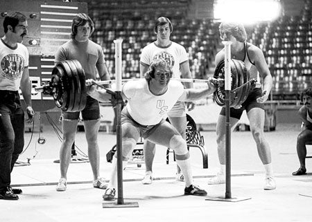 Powerlifting Legend Doug Young Squatting