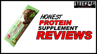 Mint Chocolate Chunk Quest Nutrition Bar Review by Strength Oldschool