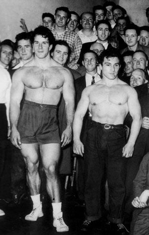 Reg Park Training at a Gym in Liverpool