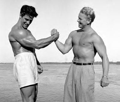 Reg Park and Russ Warner