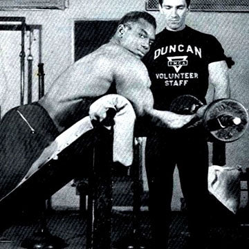 Sergio Oliva and Bob Gajda - Duncan YMCA Gym - Chicago