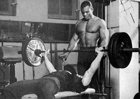 Sergio Oliva and Bob Gajda Training