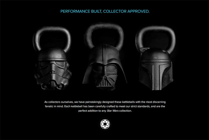 Star Wars Kettlebell Collection by Onnit