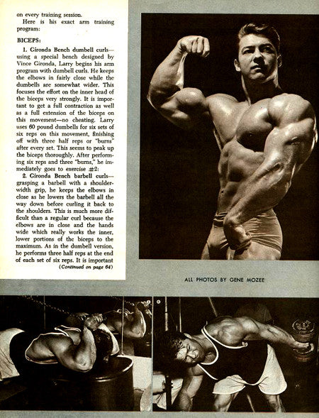 Training Arms with Bodybuilding Legend Larry Scott - Article 2
