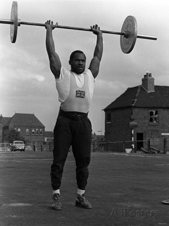 Weightlifter Louis Martin