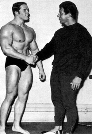 Young Arnold and Reg Park