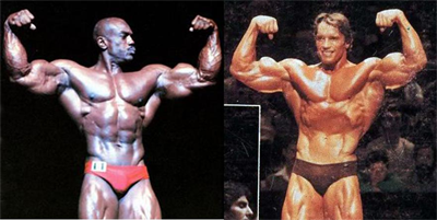 1980 Arnold Vs 1980 Sergio Oliva - Comparison 3