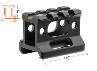 "UTG Super Slim Picatinny Riser Mount (Height: 1"" / Short) - Ultimateairsoft fun guns cqb airsoft"