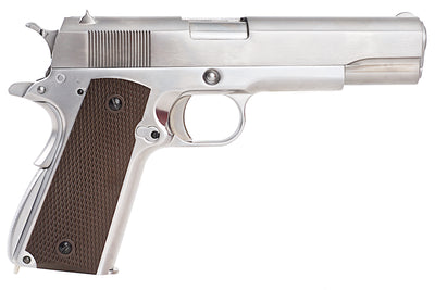 WE Silver 1911 Brown Grip - Ultimateairsoft fun guns cqb airsoft