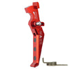 CNC Aluminum Advanced Trigger (Style E) (Red) - Ultimateairsoft fun guns cqb airsoft