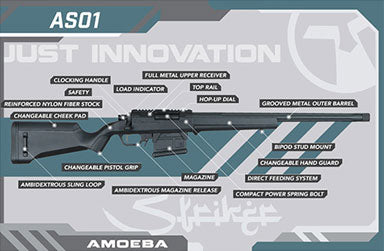AMOEBA STRIKER SNIPER RIFLE - Ultimateairsoft fun guns cqb airsoft