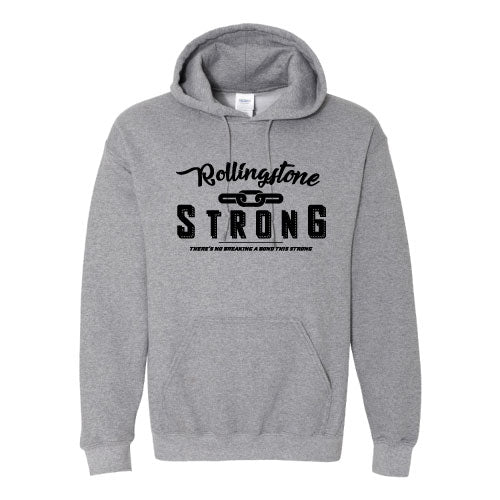 Rolling Strong - Gildan 18500 Hood - Chain Design - Grey