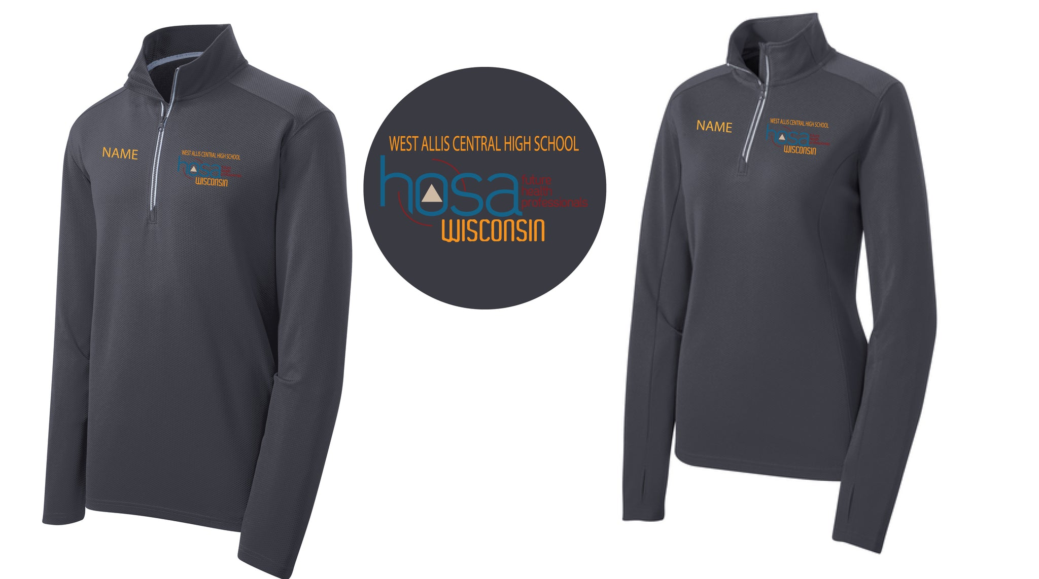 WEST ALLIS Sport-Tek® Sport-Wick® Textured 1/4-Zip Pullover - ST860 - With NAMES