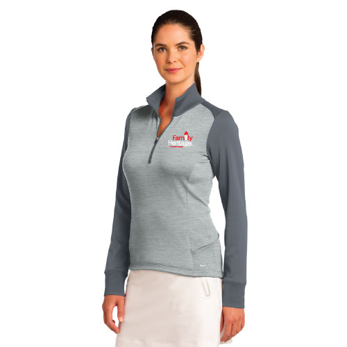 Family Heritage - Nike Ladies Dri-FIT 1/2-Zip Cover-Up