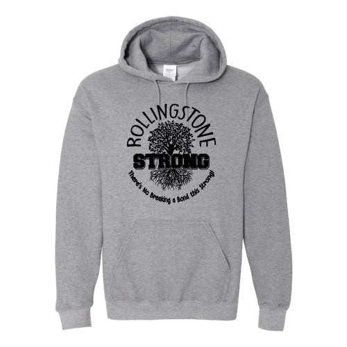 Rolling Strong - Gildan 18500 Hood - Roots Design - Grey