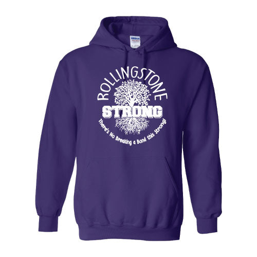 Rolling Strong - Gildan 18500 Hood - Roots Design - Purple