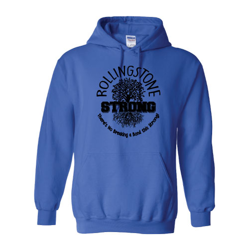 Rolling Strong - Gildan 18500 Hood - Roots Design - Royal