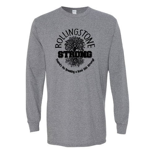 Rolling Strong - Gildan 2400 - Long Sleeve Tee - Roots Design - Grey