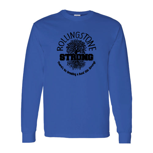 Rolling Strong - Gildan 2400 - Long Sleeve Tee - Roots Design - Royal