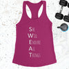 S.W.E.A.T. - Raspberry Pink - White Letters - Fitness Workout Tank - Motivation