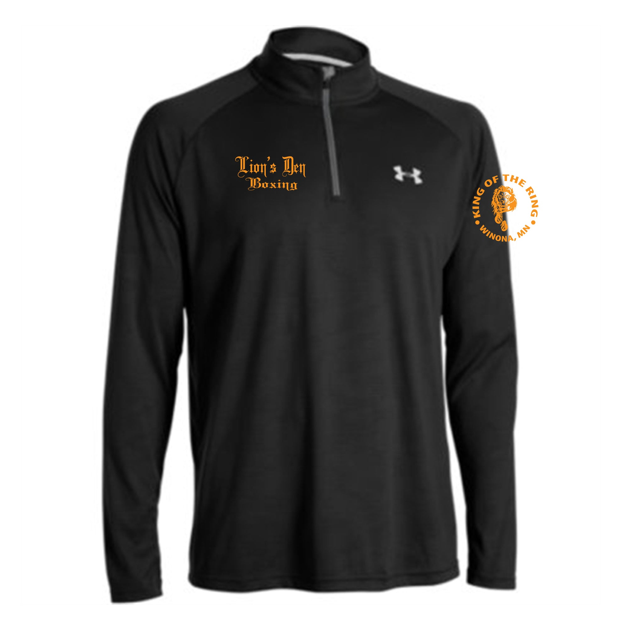 Lion's Den Boxing - UA Tech™ ¼ Zip Men's Long Sleeve Shirt - Embroidered