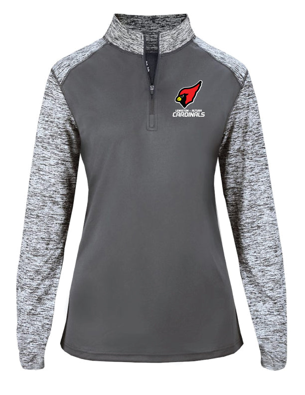 Cardinals - Embroidered Sport Blend Ladies 1/4 Zip - 4198