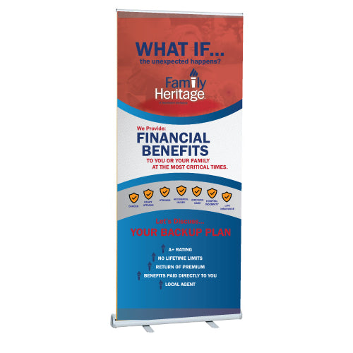 "Family Heritage Retractable Banner 33""x81"""