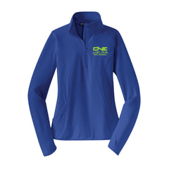 One Last Ride - Sport-Tek® Ladies Sport-Wick® Stretch 1/2-Zip Pullover - Royal