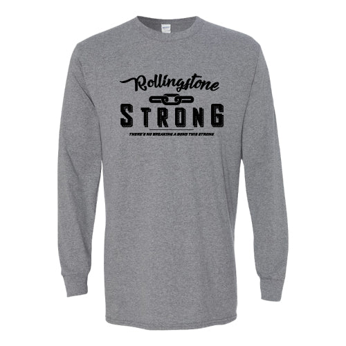 Rolling Strong - Gildan 2400 - Long Sleeve Tee - Chain Design - Grey