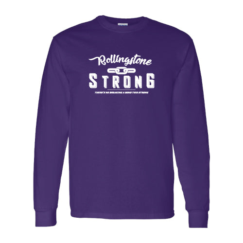 Rolling Strong - Gildan 2400 - Long Sleeve Tee - Chain Design - Purple