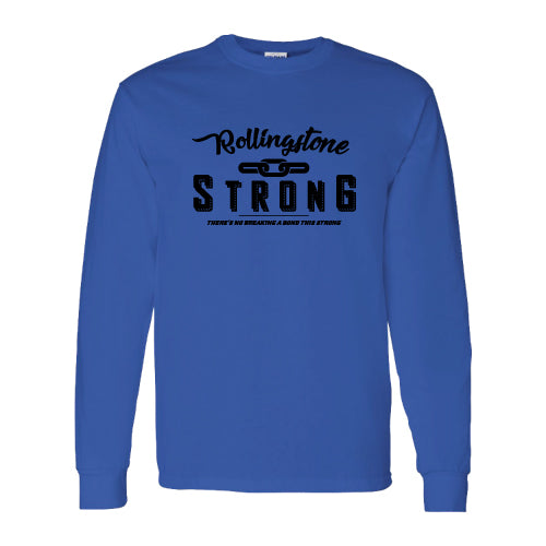 Rolling Strong - Gildan 2400 - Long Sleeve Tee - Chain Design - Royal