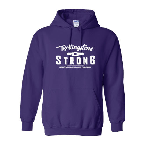 Rolling Strong - Gildan 18500 Hood - Chain Design - Purple