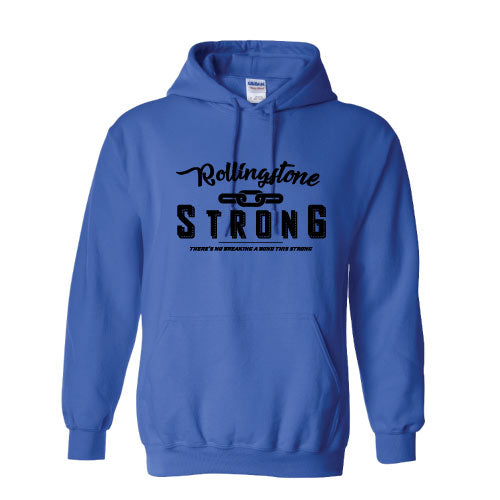 Rolling Strong - Gildan 18500 Hood - Chain Design - Royal