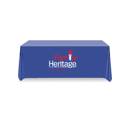6ft Table Cover 4 sided (Close Back) - FAMILY HERITAGE LOGO