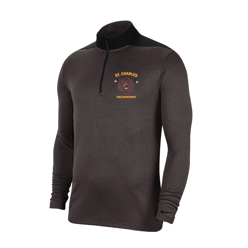 St. Charles Fire - Nike Dry Core 1/2-Zip Cover-Up - Grid Iron