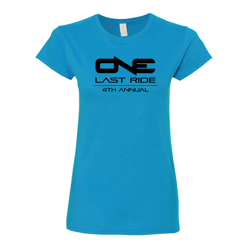 One Last Ride - Gildan - Ultra Cotton Women's T-Shirt - 2000L - Blue