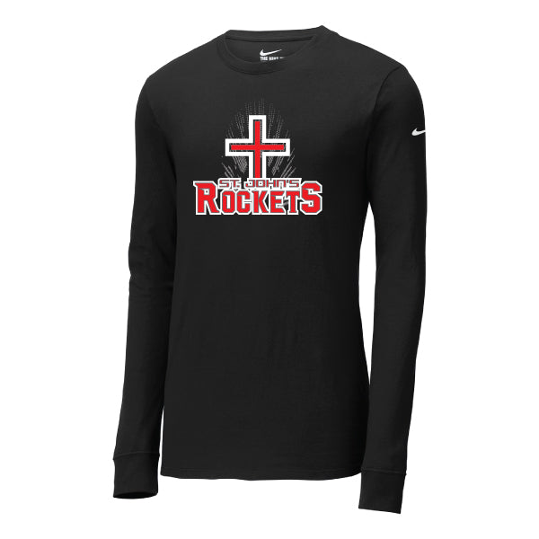 Rockets - Nike Core Cotton Long Sleeve Tee - Black