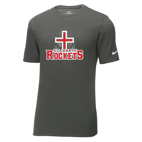 Rockets - Nike Core Cotton Tee - Grey