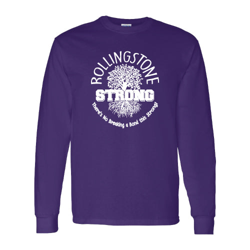 Rolling Strong - Gildan 2400 - Long Sleeve Tee - Roots Design - Purple