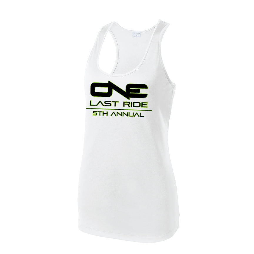 One Last Ride - Sport-Tek® Ladies PosiCharge® Competitor™ Racerback Tank - White