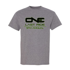 One Last Ride - Gildan - DryBlend 50/50 T-Shirt - 8000 - Grey