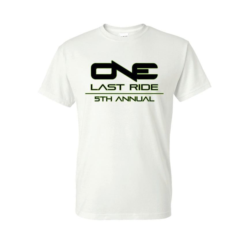 One Last Ride - Gildan - DryBlend 50/50 T-Shirt - 8000 - White