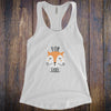 For Fox Sake - Black Letters - Fitness Workout Tank - Motivation