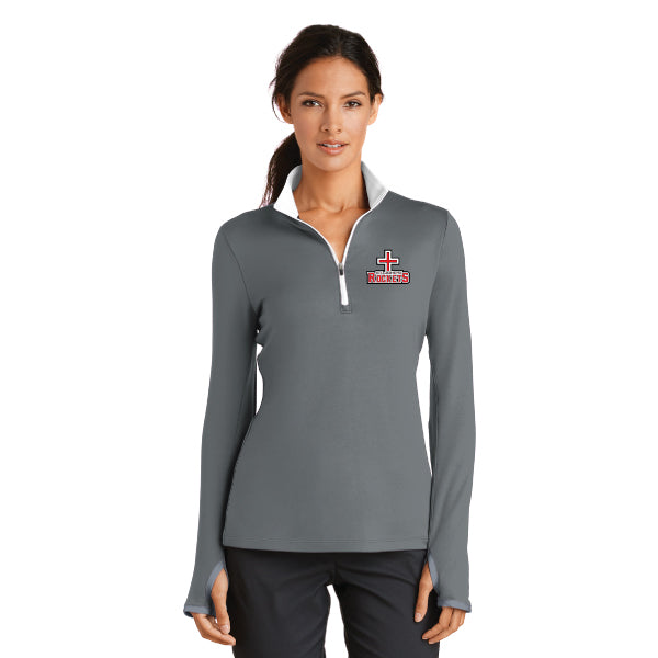 Rockets - Nike Ladies Dri-FIT 1/2-Zip Cover-Up - Grey
