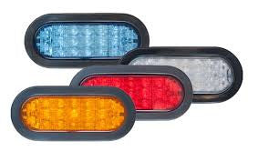 "HD6™ 6"" Oval LED Warning Light - Interstate Signal"